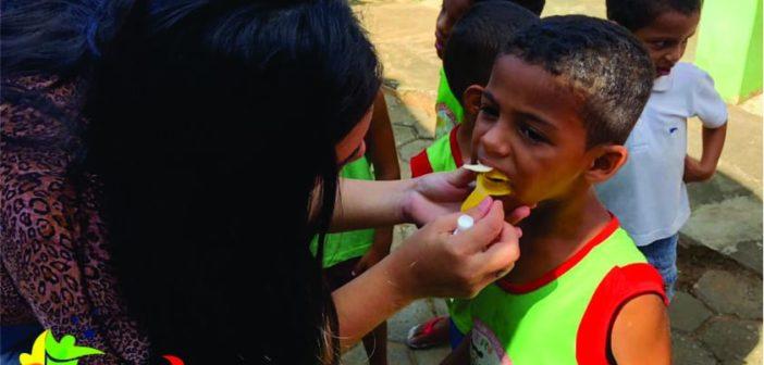 A Equipe do NASF – Núcleo de Apoio a Saúde da Família juntamente com a Equipe de Saúde Bucal